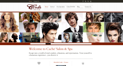 Cache Salon Home Page - large slider banner