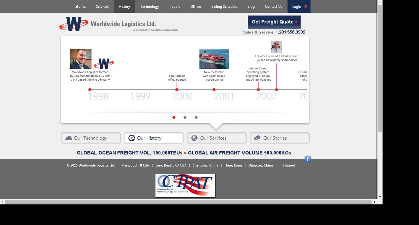 Our History   Worldwide Logistics Ltd.