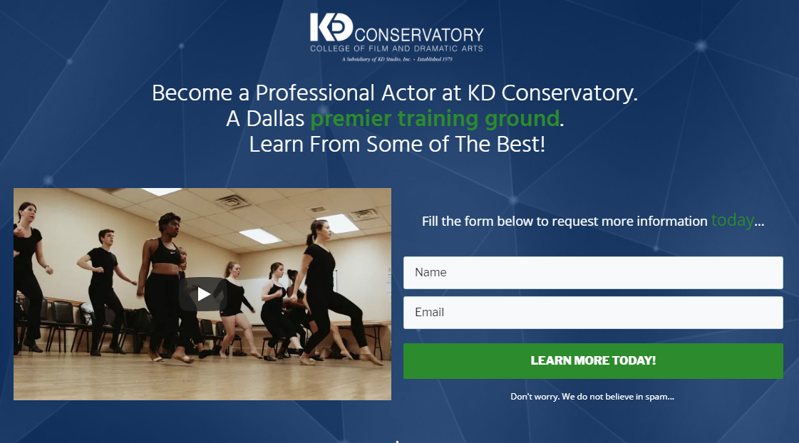 KD Conservatory Acting Program – Learn more today